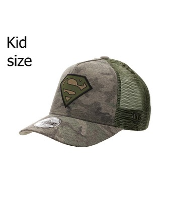 dětská kšiltovka New Era 9FO Aframe Camo Superman Trucker Child - Woodland Camo