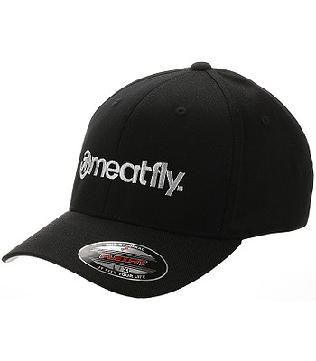 czapka z daszkiem Meatfly Brand Flexfit - A/Black