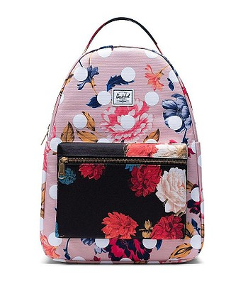 backpack Herschel Nova Mid Volume/Kaleidoscope - Winter Flora/Vintage Floral Black/Polkadot - women´s