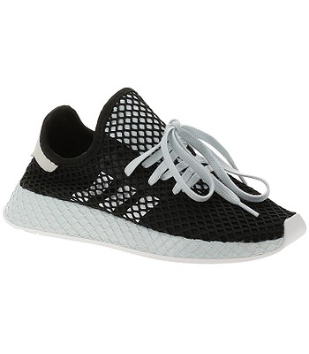 shoes adidas Originals Deerupt Runner - Core Black/White/Blue Tint - women´s