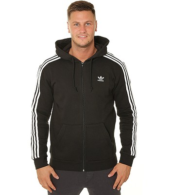 Sweatshirt adidas Originals 3 Stripes Zip - Black - men´s