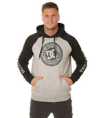 sweatshirt DC Circle Star Pullover Raglan - XSSK/Gray Heather/Black - men´s