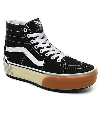 chaussures Vans SK8-Hi Stacked - Black Checkerboard