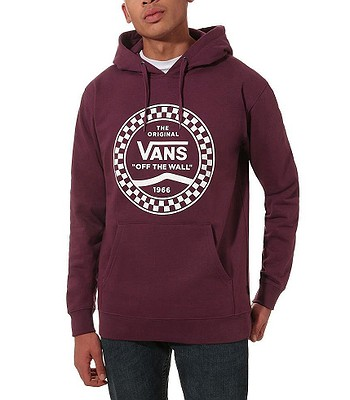 Sweatshirt Vans Checkered Side Stripe Front - Prune - men´s