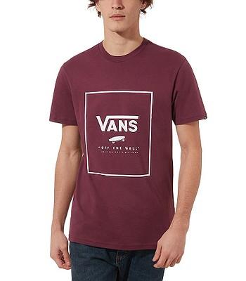 T-Shirt Vans Print Box - Prune/White - men´s