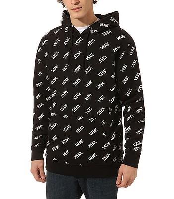 sweatshirt Vans Allover Distorted Performance - Black/White - men´s