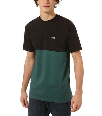 T-shirt Vans Colorblock - Black/Vans Trekking Green