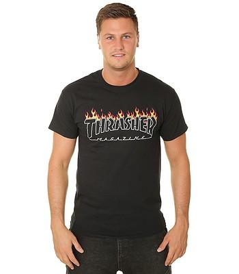 tričko Thrasher Scorched Outline - Black