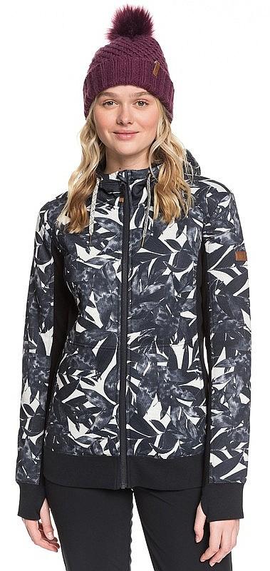 Oyster Gray Hawaiian Palm Leaf Roxy Damen Andie-Schneejacke f/ür Frauen
