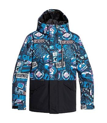 jacket Quiksilver Mission Block - KVJ7/Black Bark To The Moon - boy´s