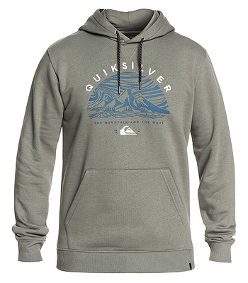 sweatshirt Quiksilver Big Logo Snow - GZC0/Agave Green - men´s