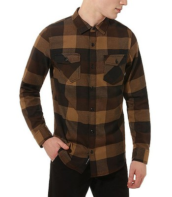 shirt Vans Box Flannel LS - Black/Dirt - men´s