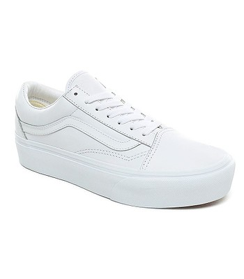 buty Vans Old Skool Platform - Leather/True White/True White
