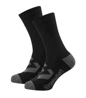 ponožky Horsefeathers Loby Crew - Black