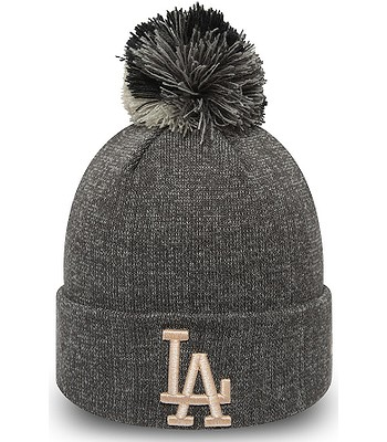 cap New Era Multi Bobble Cuff Knit MLB Los Angeles Dodgers - Gray/Light Pink - women´s