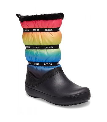 shoes Crocs Crocband Neo Puff Winter Boot - Neon Ombre/Black - women´s