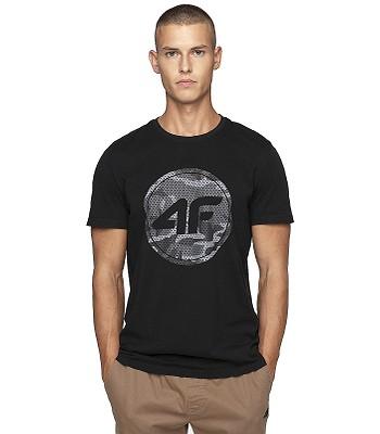 T-Shirt 4F H4Z19-TSM076 - 20S/Deep Black - men´s