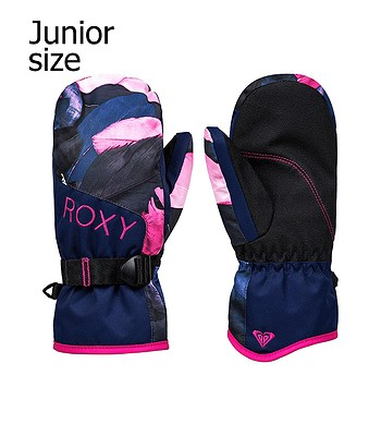 glove Roxy Jetty Mitt - BTE5/Medieval Blue Plumes - girl´s