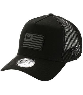kšiltovka New Era 9FO Aframe Flag Trucker - Black/Graphite
