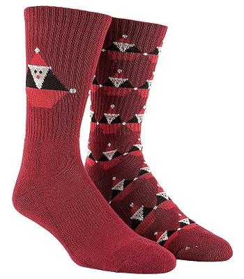 ponožky Volcom Santastone - Deep Red