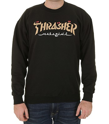 sweat-shirt Thrasher Calligraphy Crew - Black - men´s