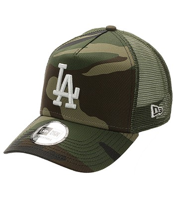 Kappe New Era 9FO AF Ess. Camo Trucker MLB Los Angeles Dodgers - Woodland Camo - men´s