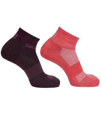 ponožky Salomon Evasion 2 Pack - Winetasting/Cayenne