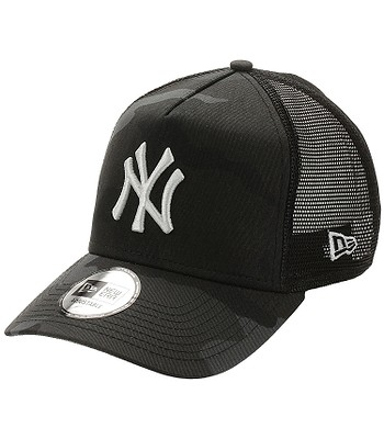 cap New Era 9FO AF Essential Camo Trucker MLB New York Yankees - Midnight Camo - men´s