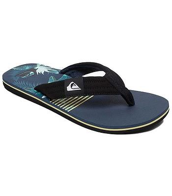 flip flops  Quiksilver Molokai Layback - XKBG/Black/Blue/Green - men´s