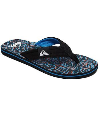 flip flops  Quiksilver Molokai Layback - XKKB/Black/Black/Blue - men´s