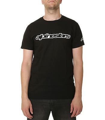 T-shirt Alpinestars Wordmark - Black/White - men´s