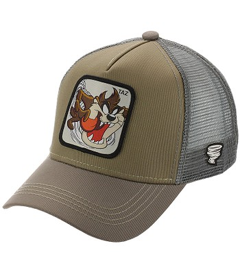 cap Capslab Looney Tunes Trucker - Taz/Stone/Gray - men´s