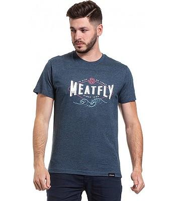 tričko Meatfly Windy - C/Heather Navy