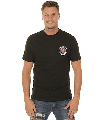 tričko Independent Repeat Cross - Black