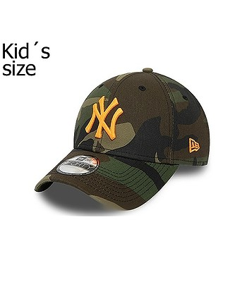 cap New Era 9FO Camo Essential MLB New York Yankees Child - Woodland Camo/Neon Orange - kid´s