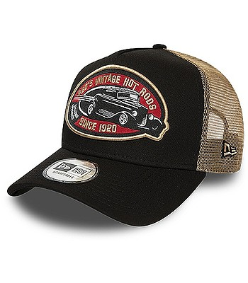 casquette New Era 9FO AF Hot Rod Pack Trucker - Black/Brown - men´s