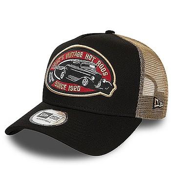 šiltovka New Era 9FO AF Hot Rod Pack Trucker - Black/Brown