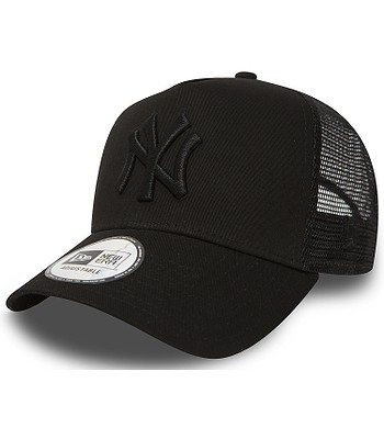 czapka z daszkiem New Era 9FO AF Clear Trucker MLB New York Yankees - Black/Black
