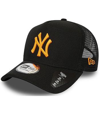 cap New Era 9FO AF Diamond Era Trucker MLB New York Yankees - Black/Neon Orange - men´s