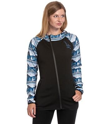 Sweatshirt Meatfly Firefly Zip - A/Landscape Blue/True Black - women´s