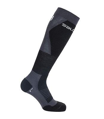 chaussettes Salomon S/Max - Ebony/Black - unisex junior