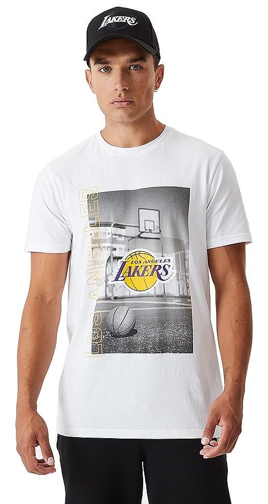 T-Shirt New Era Photographic NBA Los Angeles Lakers - White - men ...