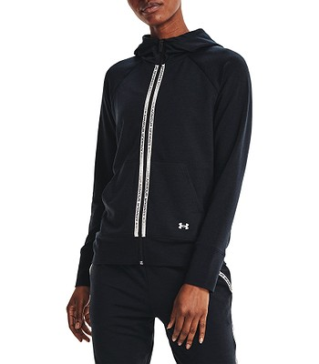 mikina Under Armour Rival Terry Taped Zip - 001/Black/Mod Gray