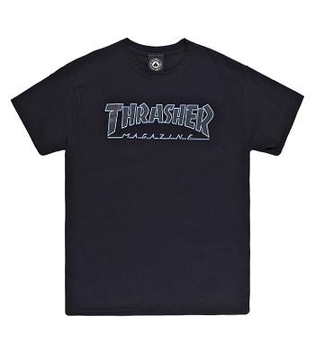 tričko Thrasher Outlined - Black/Black
