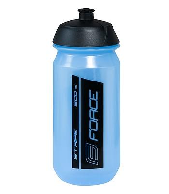 water bottle FORCE Stripe 500 - Transparent/Blue/Black