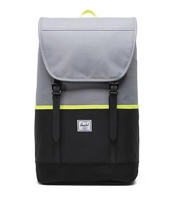 backpack Herschel Retreat Pro - Grey/Black/Safety Yellow