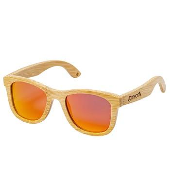 okulary Meatfly Bamboo - Orange Light/Polarized