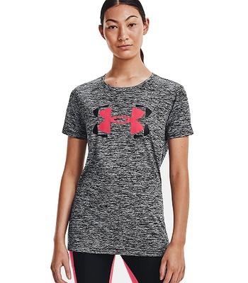 T-shirt Under Armour Tech Twist Graphic SSC - 001/Black/Brilliance - women´s