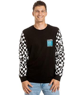 T-shirt Meatfly Judgement LS - Checkered Black