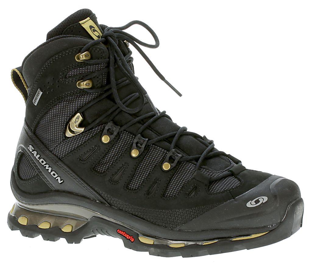 6bc31c07add7 Salomon Quest 4D GTX Shoes - Black Black Gold Equipe-X - Snowboard shop